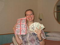 Shelley WINS !!! $561.00 on her birthday.